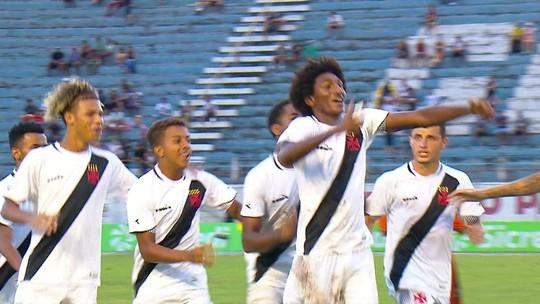 Os gols de Vasco 5 x 1 Manthiqueira pela Copa SP de futebol júnior