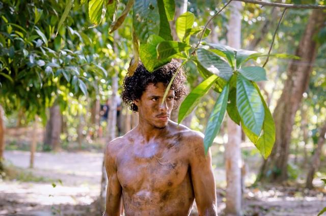 Matheus Abreu nas gravações do filme 'Pureza' (Foto: Divulgação)