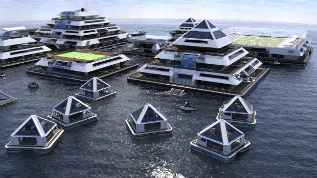 Wayaland é uma cidade flutuante projetada por Pierpaolo Lazzarini (Foto: Divulgação)