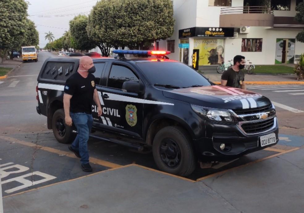 Polícia prendeu suspeito de aplicar golpes na última terça-feira (9) — Foto: Polícia Civil-MT/Assessoria