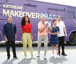 Otaviano Costa e a equipe do 'Extreme makeover Brasil' | Reprodução