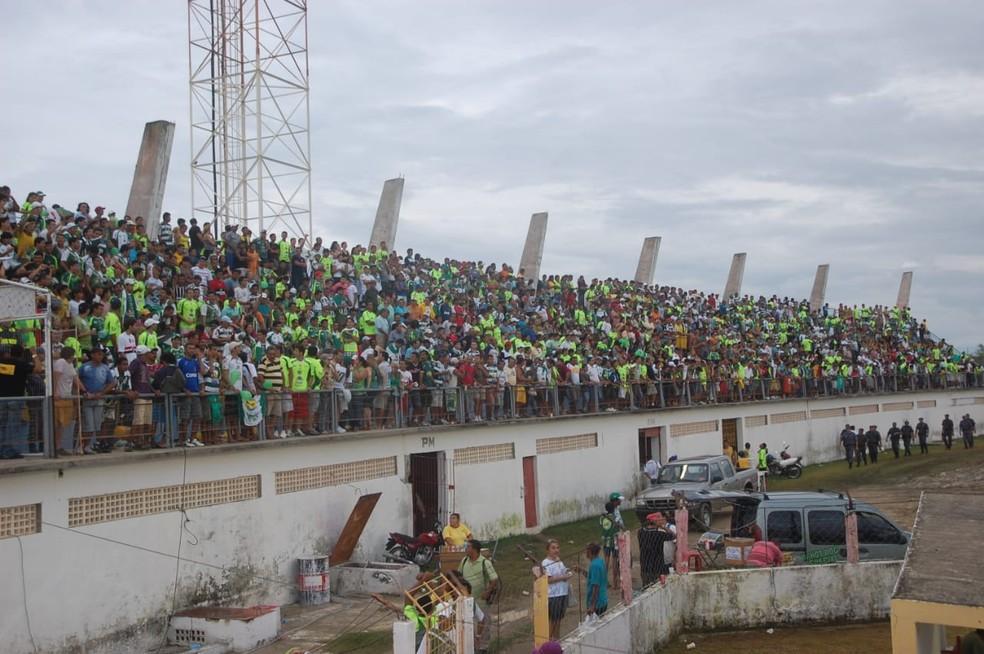 Marizão, em Caicó, recebeu a final entre Potyguar e Assu, em 2009 — Foto: Frankie Marcone
