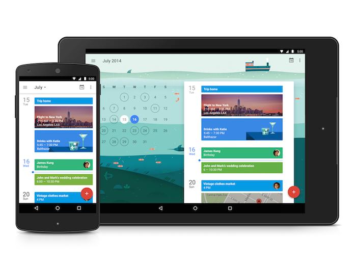 Google Agenda mudou completamente o aspecto visual (Divulgação/Google)