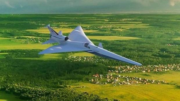 Ilustração do Avião-X (Foto: Nasa)