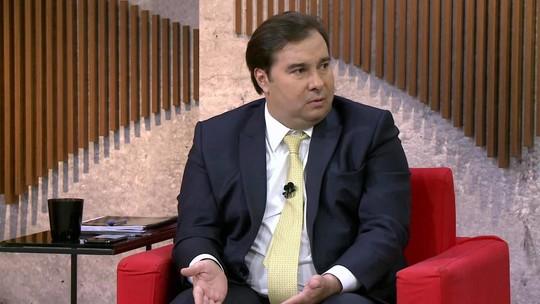 Rodrigo Maia: 'Ninguém explicou o que é a nova política ainda'