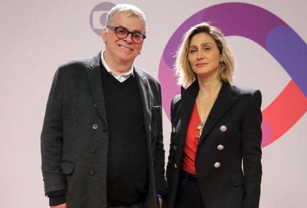 Walcyr Carrasco e Amora Mautner (Foto: Globo)