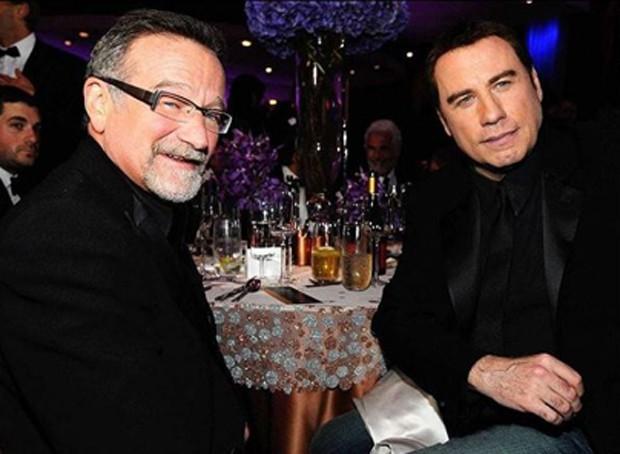 Robin Williams e John Travolta (Foto: Reprodução/Instagram)