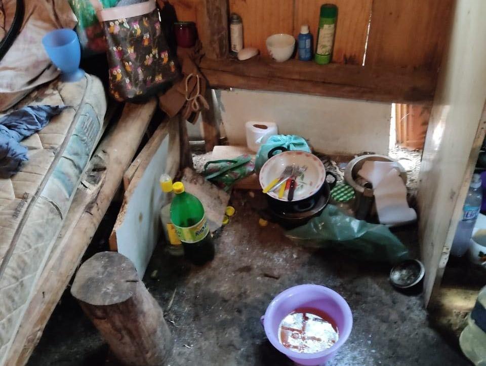 Casal de idosos e cachorro são resgatados em situação de maus-tratos, em Palmeira