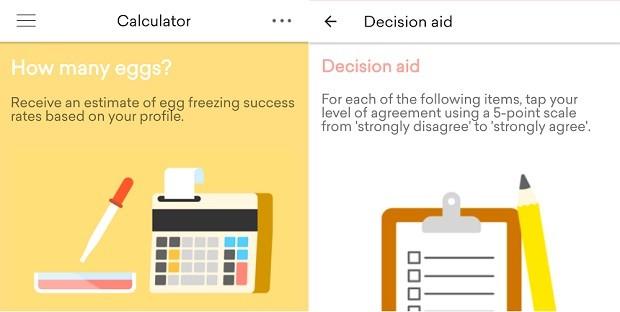 FrzMyEggs tem duas ferramentas interativas: uma calculadora e uma ajuda de decisão (Foto: Divulgação)