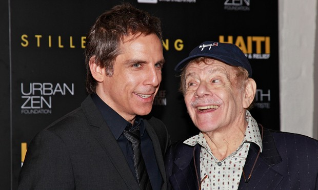 Ben Stiller e o pai, Jerry (Foto: Getty Images)