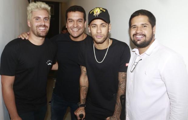 Thiago Gagliasso, Leandro Monteiro, Neymar e Pablo Andrade (Foto: Fred Pontes)