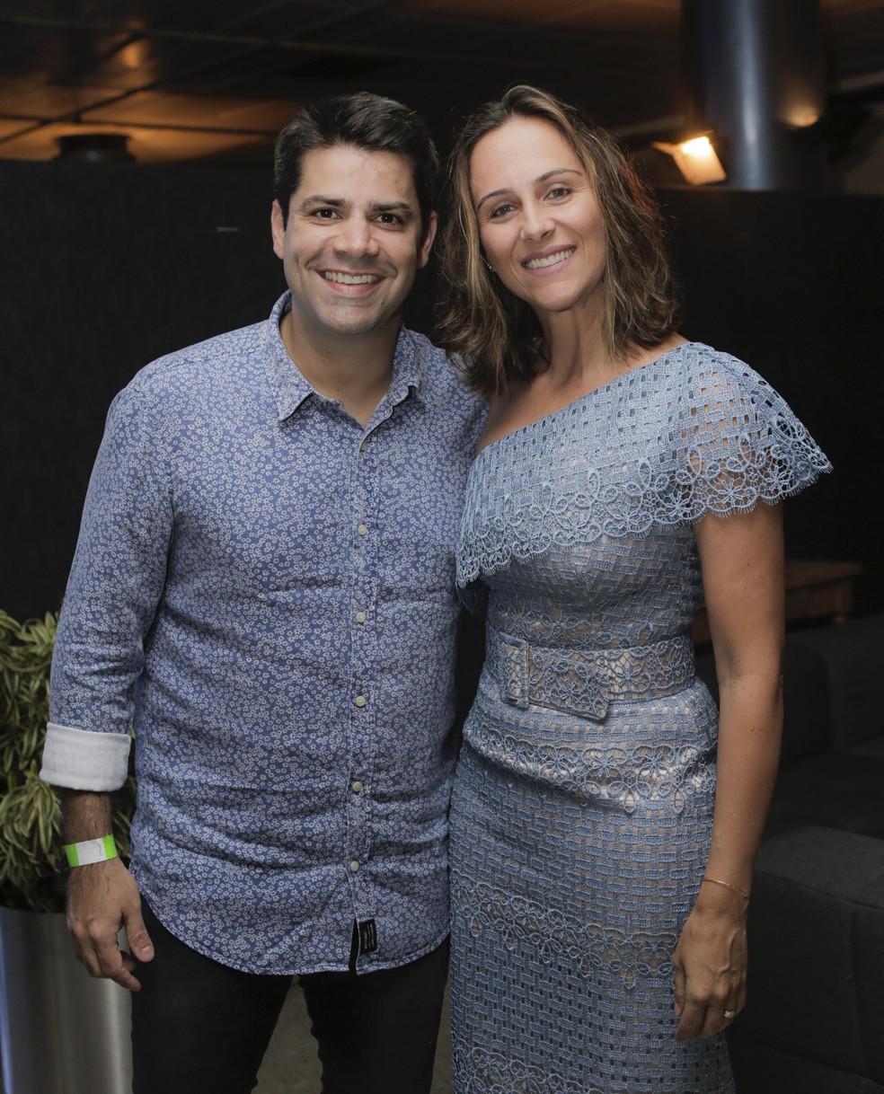 Lair Rennó e a mulher, Emília (Foto: Raphael Dias/Gshow)