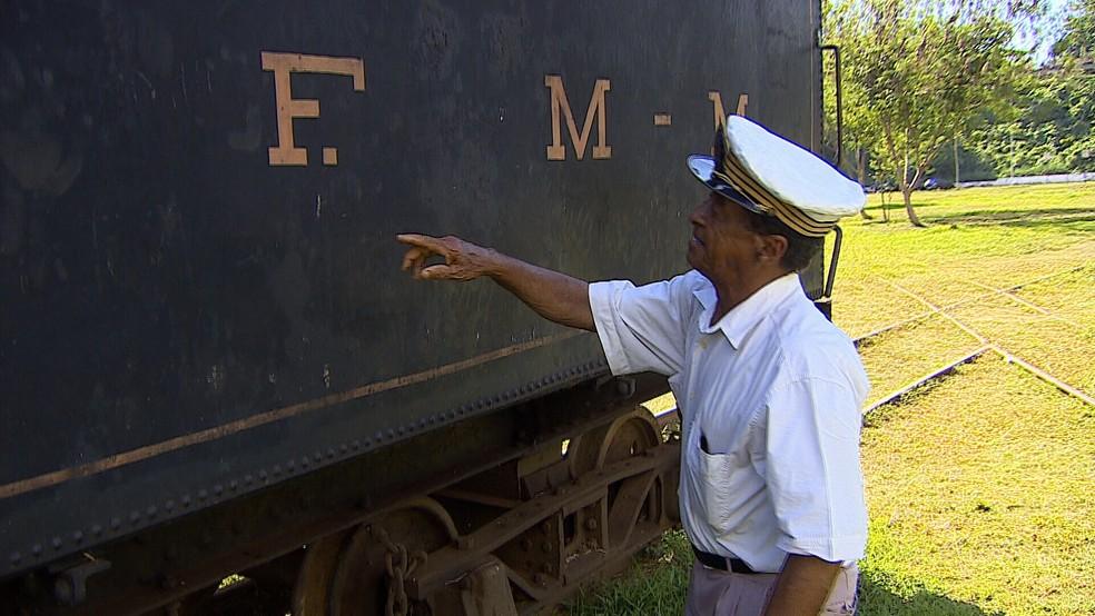 José Bispo, lembra de momentos vividos na ferrovia (Foto: Reprodução/ Rede Amazônica)
