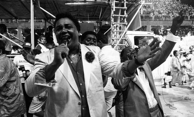 Dominguinhos do Estácio: intérprete da Imperatriz no carnaval de 1989 também concorreu com um samba, que era favorito