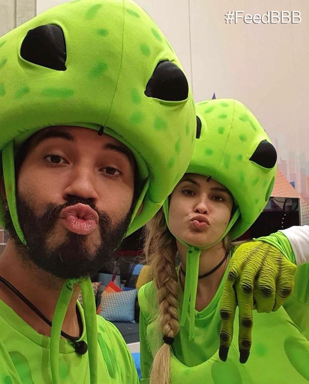 Gil e Sarah, no BBB21 (Foto: Reprodução / Instagram)