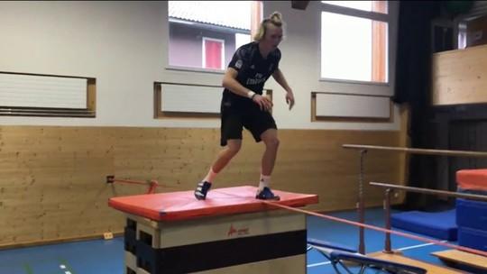 Em vídeo, esquiador suíço impressiona com treino de parkour