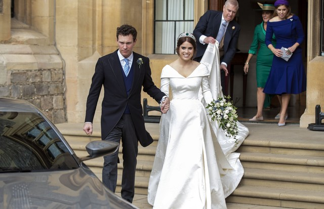 Fotos de vestidos de noiva: princesa Eugenie (Foto: Getty Images)