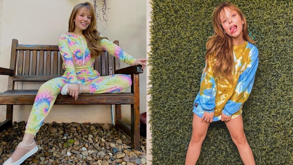 """Larissa Manoela revela """"vício"""" em tie-dye — Foto: Reprodução/Instagram"""