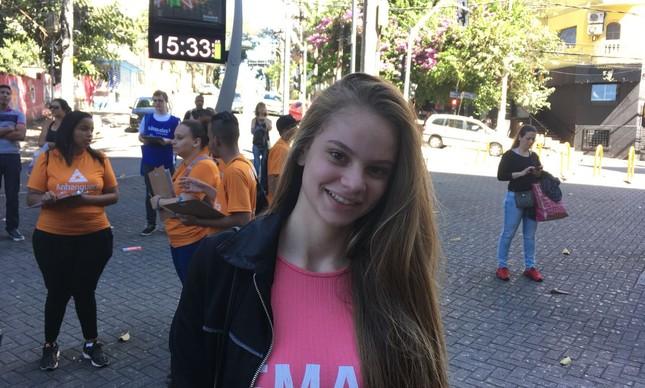 Giovanna Santis, de 17 anos, quer ser psicóloga