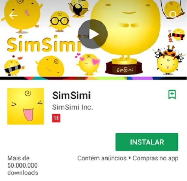 SimSimi aplicativo (Foto: Divulgação)
