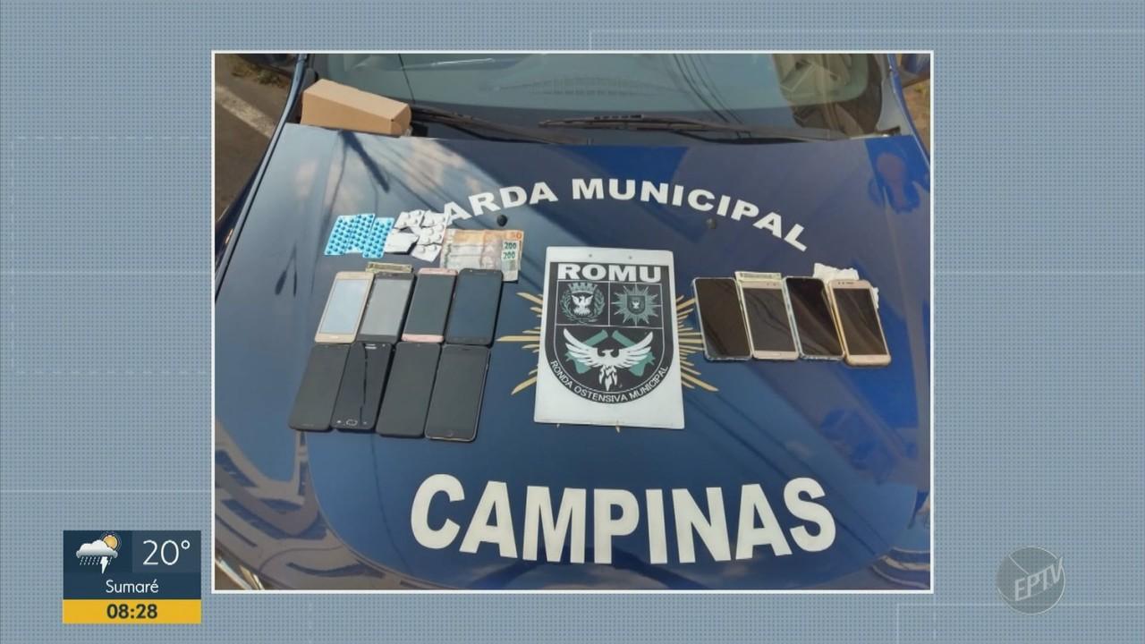 Guarda de Campinas prende dois homens suspeitos de vender remédios e celulares roubados