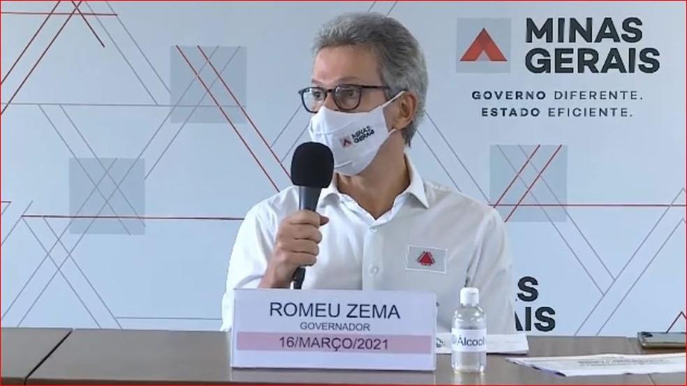 Governador de Minas Gerais, Romeu Zema (Novo) — Foto: Reprodução/TV Globo