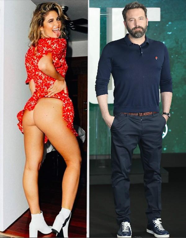 A modelo Shauna Sexton e o ator Ben Affleck (Foto: Instagram/Getty Images)