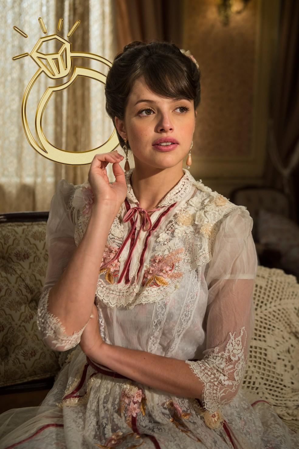 Ema está decidida a se casar por interesse e salvar a família da miséria  (Foto: TV Globo)