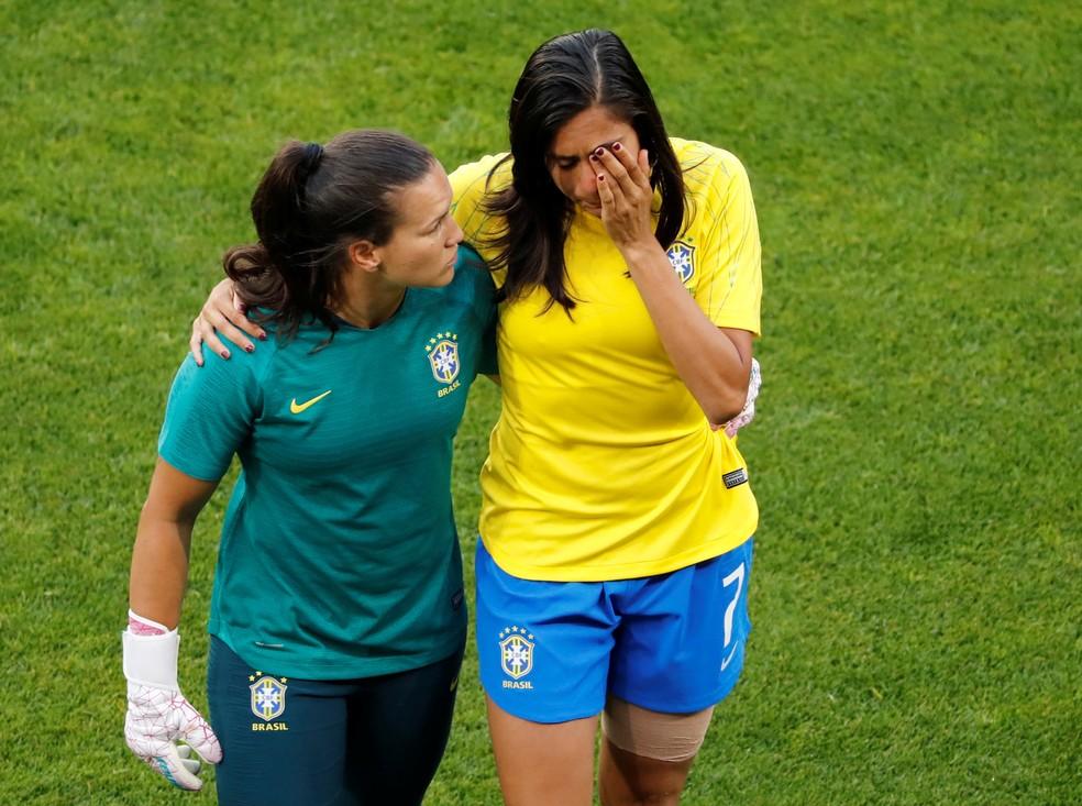 Andressa Alves foi uma das baixas da seleção — Foto: Reuters
