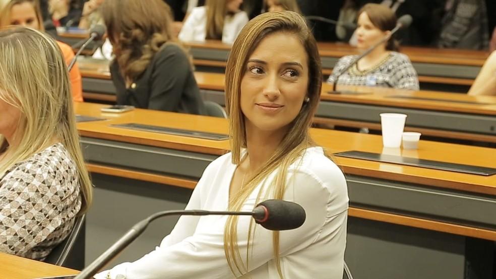 Deputada Flávia Arruda (PL-DF), nova ministra da Secretaria de Governo, em foto de arquivo tirada na Câmara dos Deputados — Foto: Arquivo pessoal
