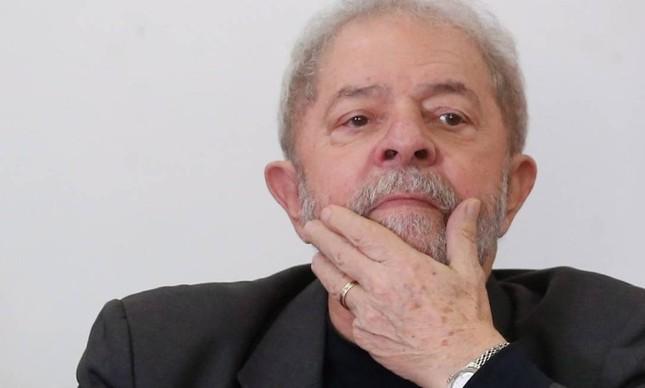 O ex-presidente Luiz Inácio Lula da Silva, durante evento do PT em São Bernardo (20/05/2017)