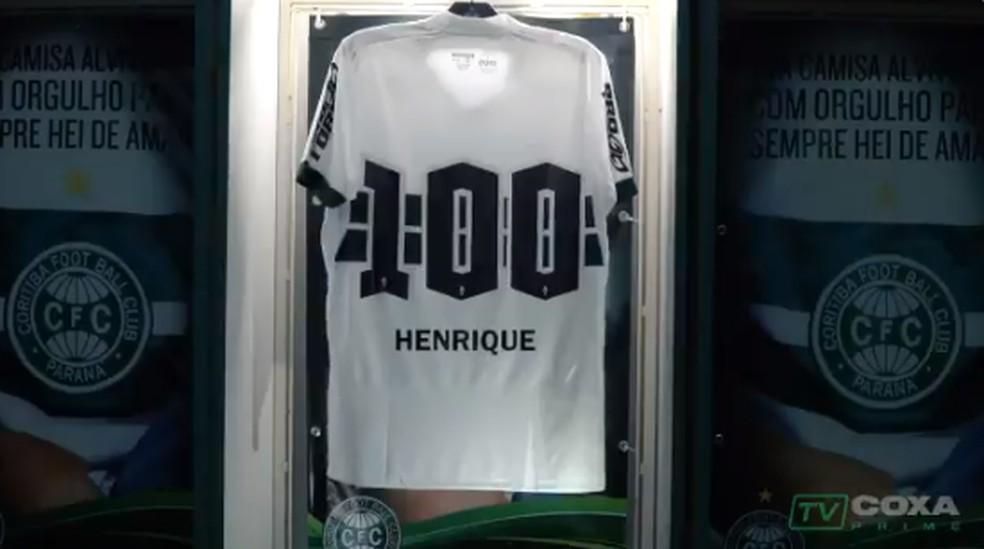 Em teaser, Coritiba confirma o retorno de Henrique — Foto: Reprodução/Twitter