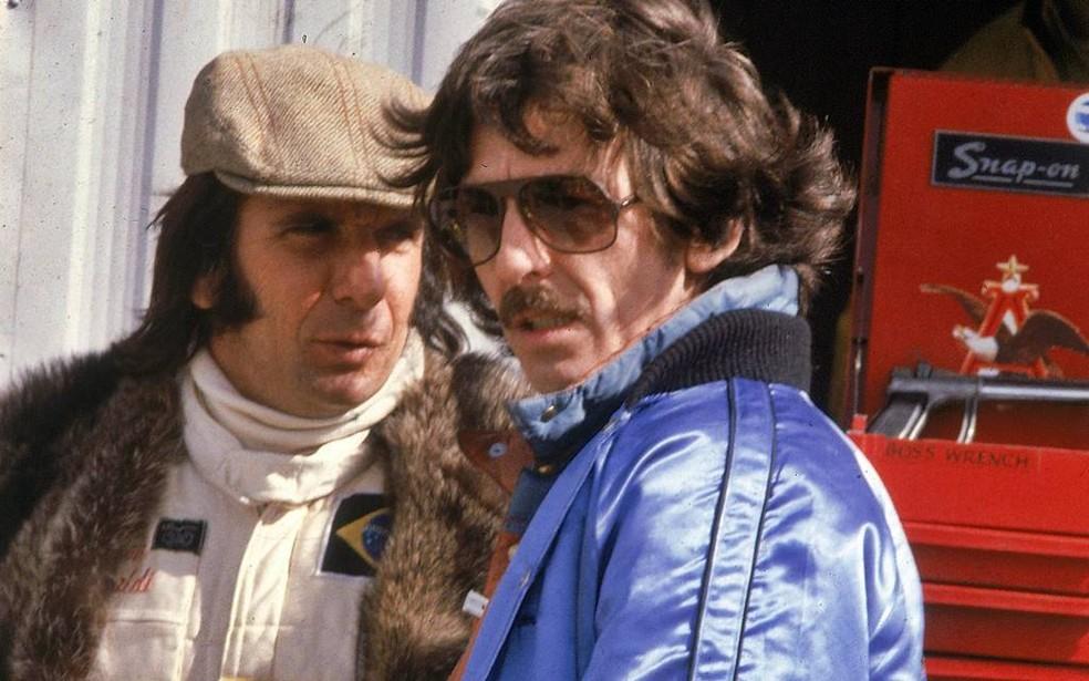 Emerson Fittipaldi e George Harrison tinham grande amizade — Foto: Reprodução/rede social