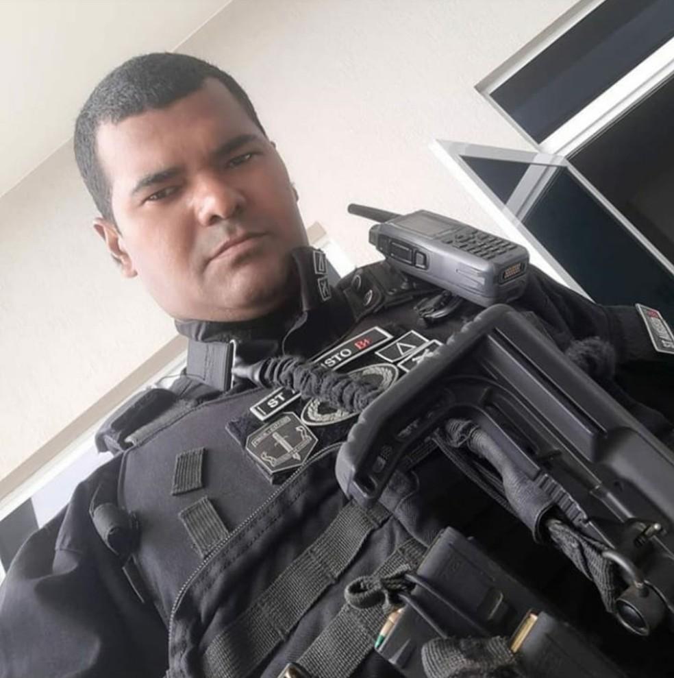 PM lamentou a morte do subtenente em Fortaleza — Foto: Reprodução SVM
