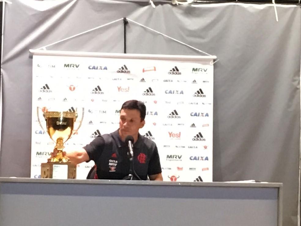 Zé Ricardo Coletiva Flamengo - Final Campeonato Carioca 2017 (Foto: Amanda Kestelman)