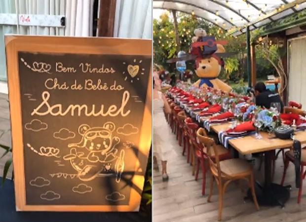 Decoração da festa de Samuel (Foto: Reprodução)