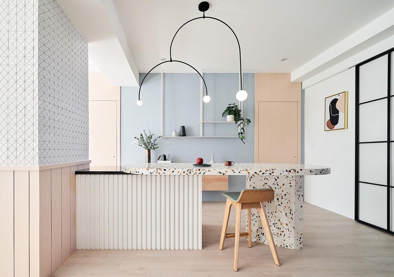 Image of: Decor Do Dia Sala De Jantar Com Balcao De Terrazzo E Tons Pastel Casa Vogue Decor Do Dia