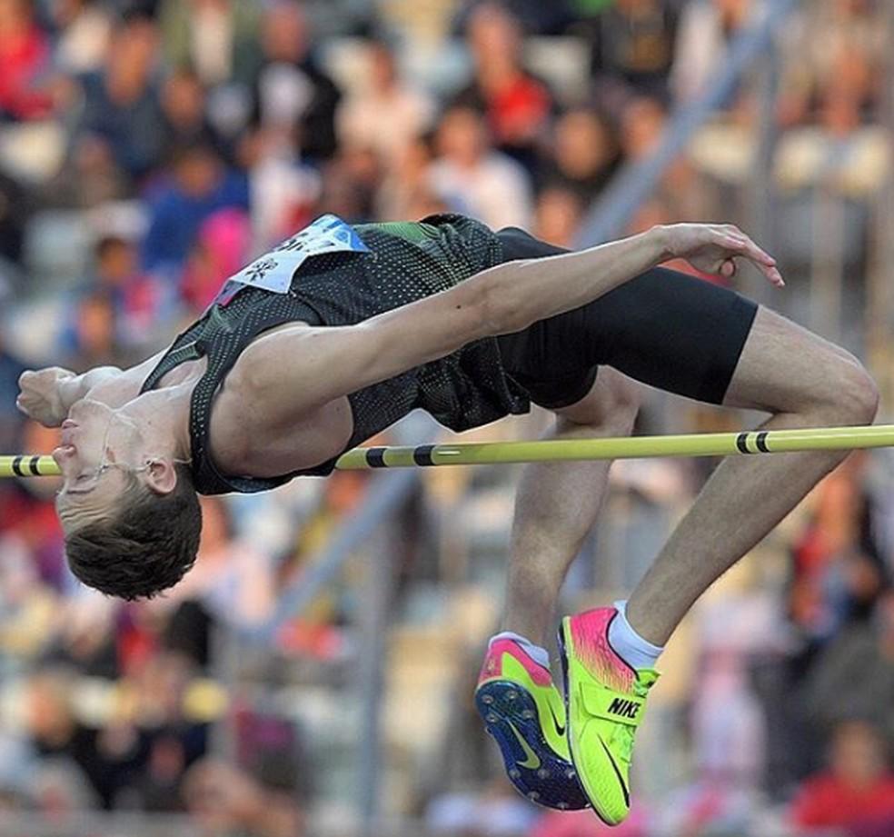 Danil Lysenko foi campeão mundial no salto em altura — Foto: Reprodução/Instagram