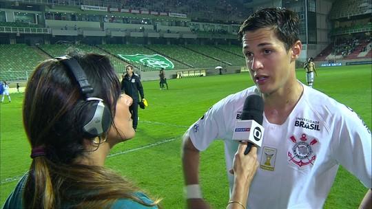 """Matheus Vital lamenta empate sem gols do Corinthians: """"Não fomos eficientes hoje"""""""
