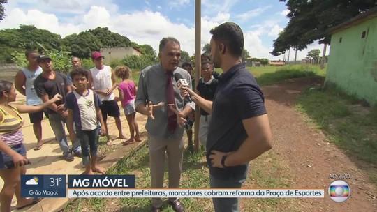 MG Móvel: apenas parte da Praça Esportiva foi reformada pela prefeitura de S. José da Lapa