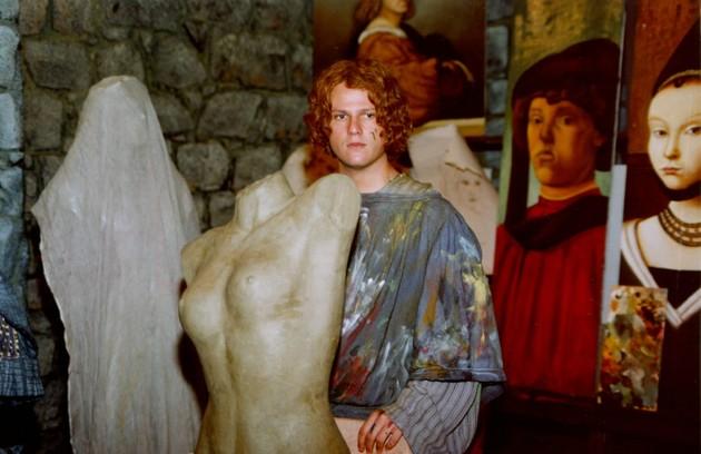 Selton Mello usou peruca para viver Diogo Álvares na minissérie 'A invenção do Brasil', em 2000 (Foto: TV Globo)