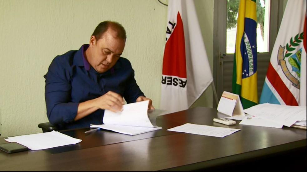 Renato Teodoro da Silva (PDT) é eleito prefeito de Santana da Vargem (MG). (Foto: Reprodução/EPTV)