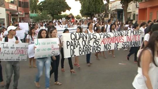 Alunos da Ufob protestam após morte de jovem em Barreiras, oeste da BA