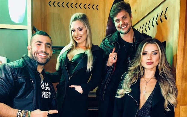 Kaysar Dadour, Jéssica Muller, Breno Simões e Paula Amorim (Foto: Reprodução/Instagram)