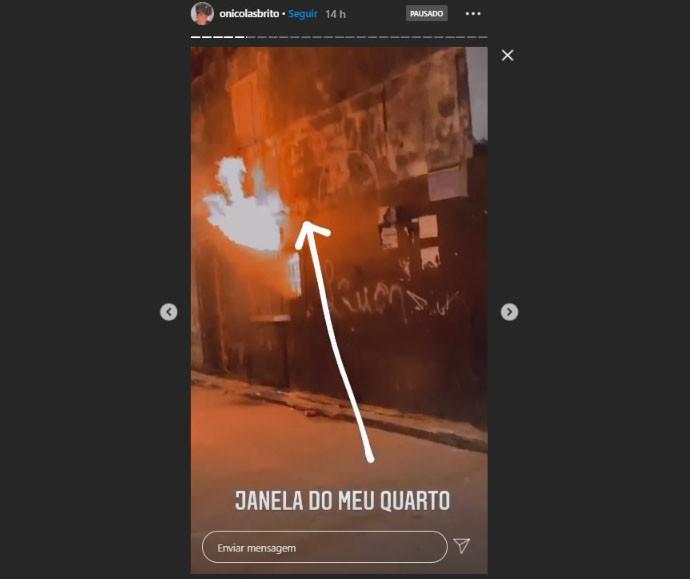 Lanchonete é atingida por incêndio em Salvador; digital influencer que mora em cima de imóvel registrou fogo