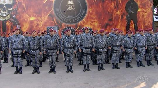 Força Nacional chega a Goiânia e participa de reunião para discutir atuação