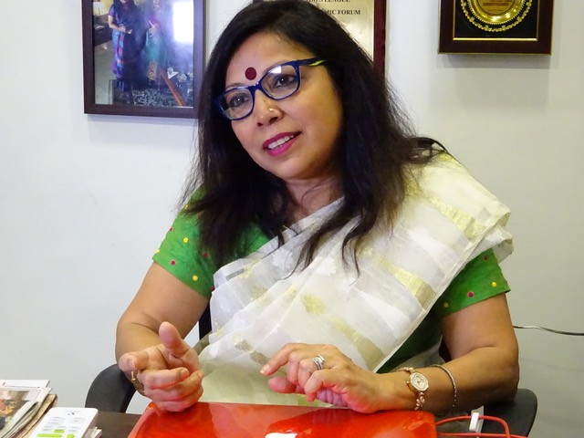 A indiana Revathi é a fundadora da startup de logística Hey DeeDee (Foto: Divulgação)