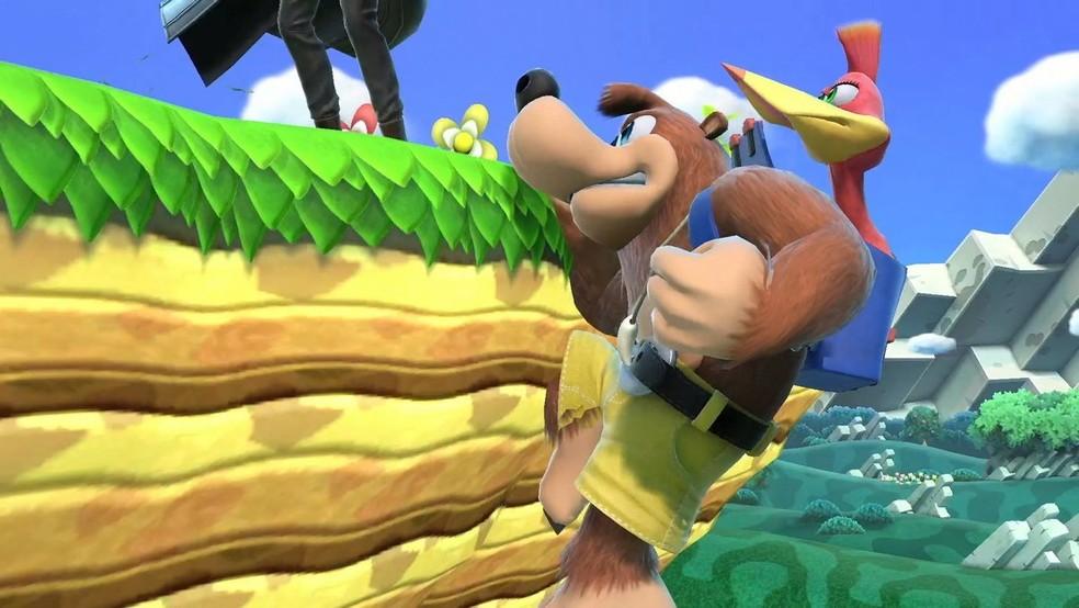 Banjo e Kazooie em Smash Bros Ultimate — Foto: Divulgação/Nintendo