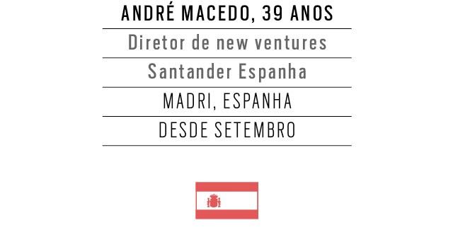 André Macedo, 39 anos, Diretor de new ventures Santander Espanha (Foto: Franco Amêndola)