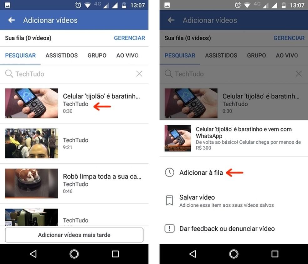 Inclusão de vídeo na Watch Party do Facebook com aplicativo para celular — Foto: Reprodução/Raquel Freire